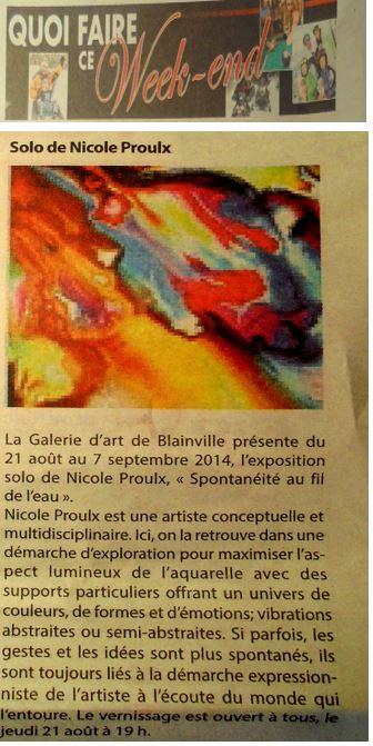 Journal Le courrier 23 juillet 2014