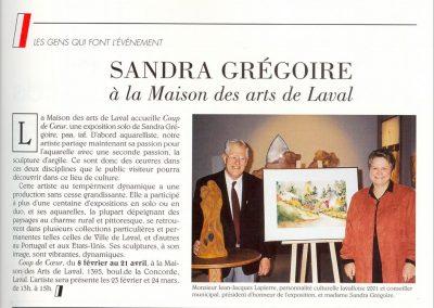 5-2002   COUP DE COEUR,  Exposition solo  Maison des Arts Laval