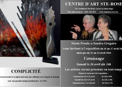 COMPLICITÉ II  2016 invitation