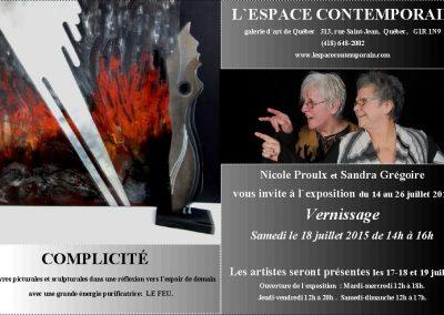 15-2015-2016 COMPLICITÉ, Espace contemporain Québec et ville de Laval