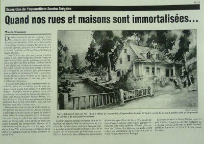 1-1997 IL ÉTAIT UNE FOIS... Exposition solo Maison Lachaine Ste-Thérèse