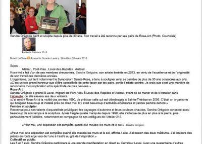 12-2013 ARTISTE ÉMÉRITE, artiste professionnelle reconnue par ses pairs