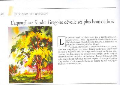 7-2005  LAVAL SOUS LES ARBRES,  Exposition solo Hotel de ville de Laval