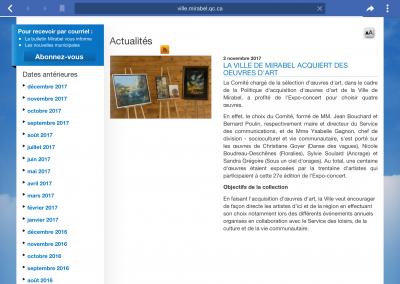 16-Collection permanente Ville de Mirabel