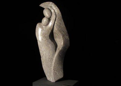 Tango amoureux, albâtre IDLM,granit (20.5x9.5x4po) (3)